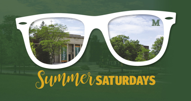 Summer Saturdays See campus thru sunglasses lense
