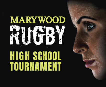 marywood rugby high school tournament photo of athlete on black bacnground